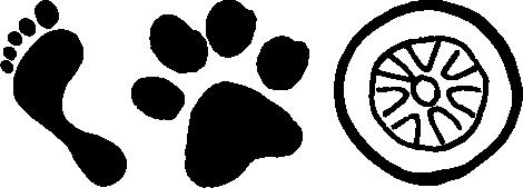 vanilla icedream Logo Fuß, Pfote, Rad